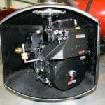 70mm camera in gyro-stabilized Spacecam mount for helicopter shooting.